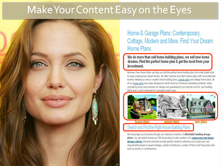Make your content easy on the eyes