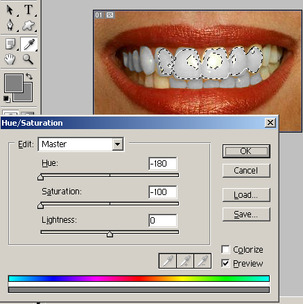 photoshop tutorial on how to whiten teeth from Easyphotoshop.info