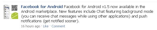Facebook Android App Gets Update
