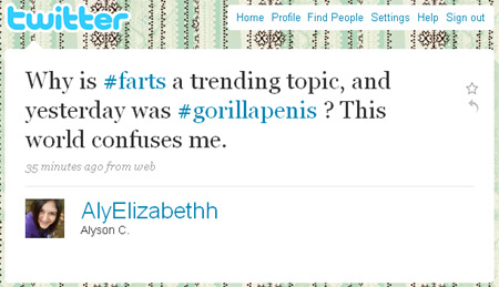 Farts a trending topic