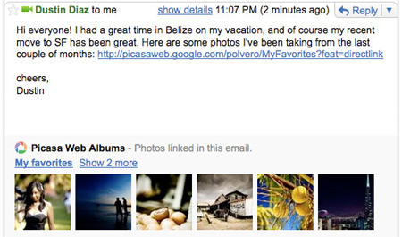Picasa in Gmail