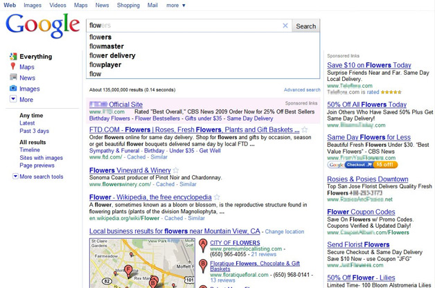 Google Instant with Ads